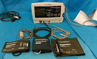 Welch Allyn 6200 Series Monitor with Pictured Cabled Accessories
