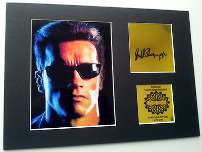 Arnold Schwarzenegger mounted quality signed print 12 x  8 in limited edition