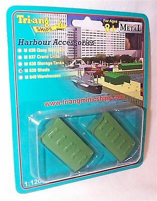 Triang Ships 1-1200 Sheds Harbour Accessories mib