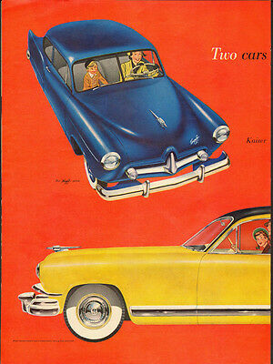 Vintage ad for 1951 Kaiser-Frazer/Yellow/Black Top (051313)