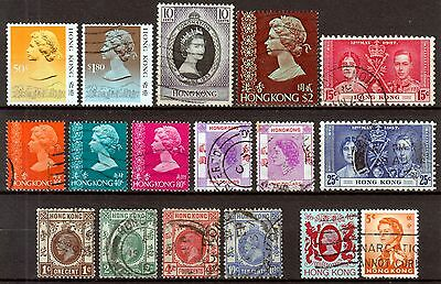 HONG  KONG ☀ small collection of 17 used stamps ☀