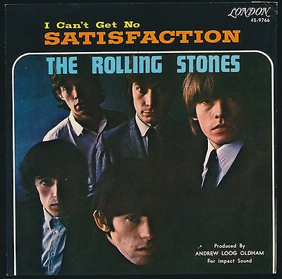 Rolling Stones OUTSTANDING 1965 ' SATISFACTION ' PICTURE SLEEVE NEAR MINT!!