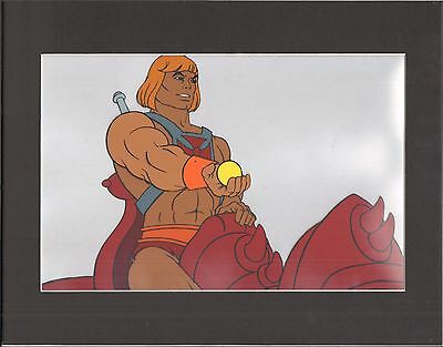 HE-MAN Masters of the universe Production Animation Art Cel AND drawing 2*