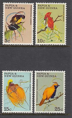 PAPUA NEW GUINEA 1970 Birds of Paradise Set MINT UNHINGED