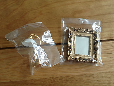 Assorted Dolls House Emporium Items Table Lamp/mirror