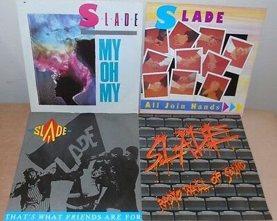 """Slade Joblot X 4 12"""" All Join Hands My Oh My Radio Wall Of Sound Glam Rock"""