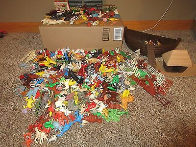 Vintage 1970s Plastic Small Animals - Huge lot, 10 pounds of them!
