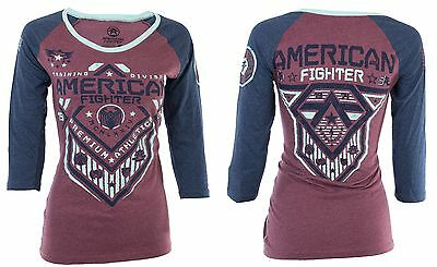 AMERICAN FIGHTER Womens T-Shirt NORTH DAKOTA Biker UFC Sinful $40 a NWT