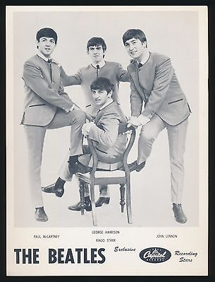 Beatles VERY RARE EARLY 1964 CANADIAN ' BEATLES PROMOTIONAL PUBLICITY ' PHOTO!