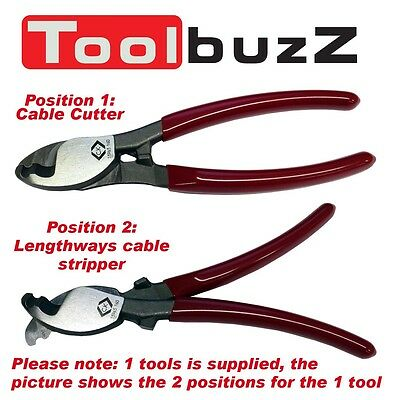 CK TOOLS 160mm COPPER CABLE WIRE CUTTER - CUTTERS & LENGTHWAYS CABLE STRIPPER