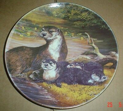 Un Named OTTERS Collectors Plate