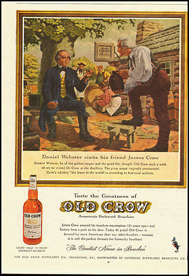 1950's Vintage ad for OLD CROW/Kentucky Bourbon (022513)