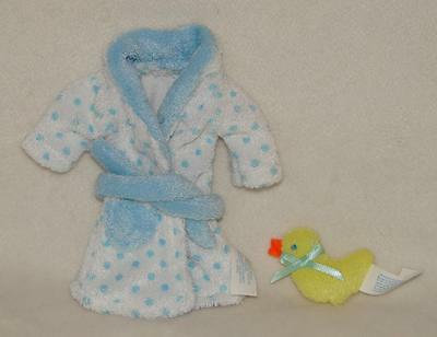 """Madeline 8"""" Doll Blue & White Bathrobe & Duck Outfit Clothing"""