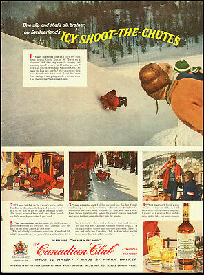 1956 Vintage ad for Canadian Club imported Whisky by Hiram Walker  (032212)