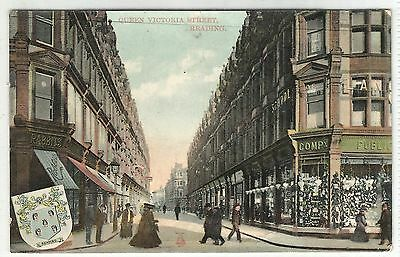 england berkshire postcard queen victoria street reading