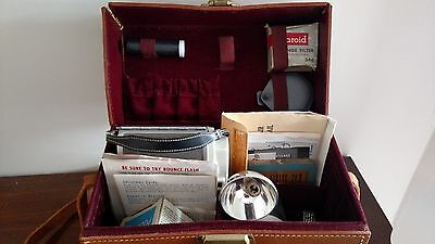 Vintage Polaroid 80A Land Camera With Leathr Case & Papers