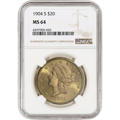 US Gold $20 Liberty Head Double Eagle - NGC MS64 - Random Date