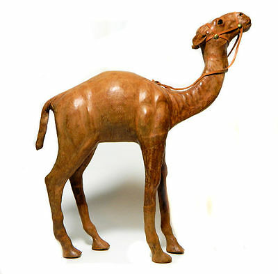 Leather Covered Camel Dromedary Figure