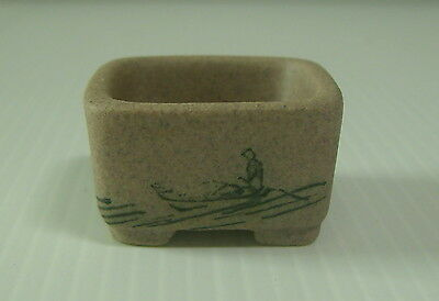 Vintage Tokoname Shinto Bonsai Pot Signed Retired mid 1900s hand painted s3 c
