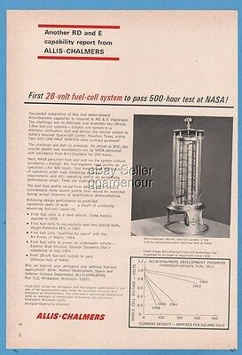 1965 Allis Chalmers NASA fuel cell system photo ad