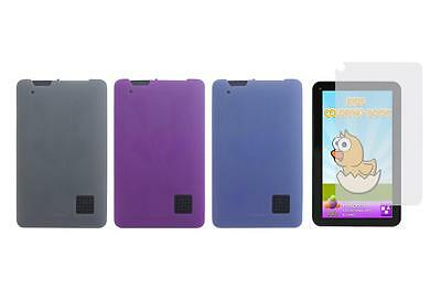 """TPU Case Cover + Screen Protector for RCA 7"""" RCT6773W42 / RCT6773W42 Tablet"""