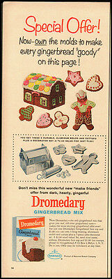 1960 Vintage Ad for Dromedary Gingerbread Mix (022612)