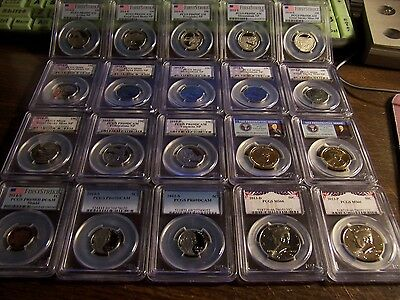 (Lot Of 20)-Icg-Ngc Anacs-Pcgs-Mixed-Business Strike And Proof Clean Coins