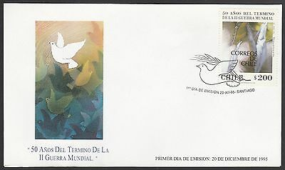 Chile 1995 FDC 50 years end of WWII stamp with painting by Mario Toral