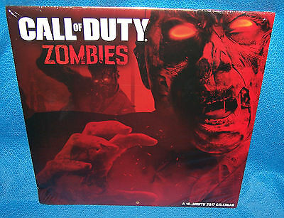 2017 Wall Calendar Call Of Duty Zombies 16 Month