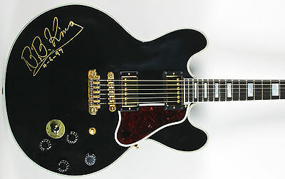 """B.B. King """"4-6-97"""" Vintage Signed Gibson Lucille Guitar BAS #A00993"""