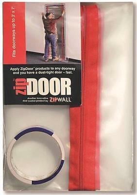 New Zipwall Zds Door Dust Containment Full Kit Clear Plastic 3' X 7'  0835819