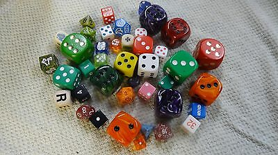 large lot of assorted dice , some big ones ,some really unusual