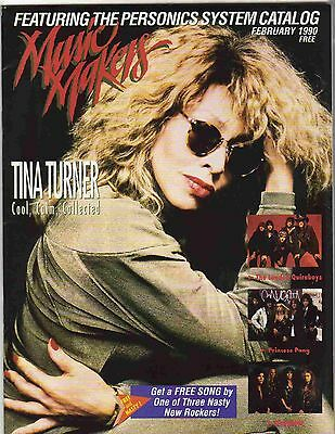 Music Makers 1990 February Tina Turner Cover