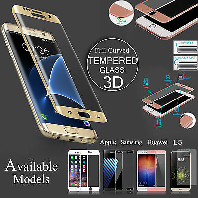 Fully Curved 3D Tempered Glass Lcd Edge Screen Protector Cover For Various Model