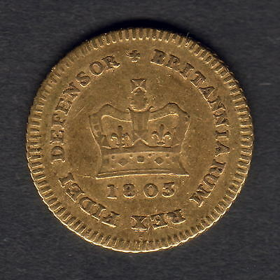 Great Britain. 1803 George 111 - Third Guinea..  F+/aVF
