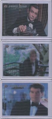 Rare! JAMES BOND In Motion COMPLETE LENTICULAR CASE TOPPER SUB SET CT1 CT2 CT3