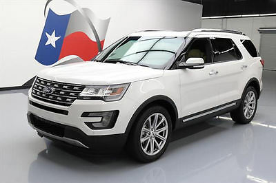 2017 Ford Explorer  2017 FORD EXPLORER LIMITED DUAL SUNROOF NAV 3RD ROW 21K #A34756 Texas Direct