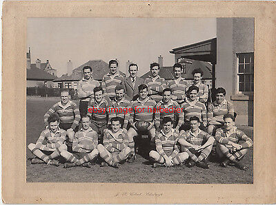 Holy Cross Academicals RFC 1947/48 team photo. Edinburgh with names attached