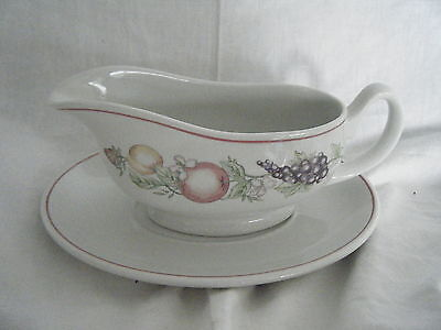 C4 Pottery Boots Orchard Gravy Boat 21x9cm 6B4A