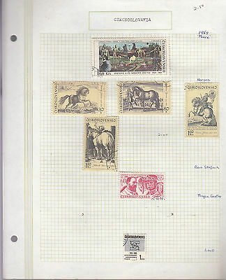 CZECHOSLOVAKIA 1969  Collection On old Album Page FINE USED(b)