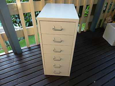 White Metal Small Filing Cabinet Storage  Office Home