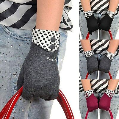 Womens Touch Screen Gloves Ladies Winter Wool Warm Full Finger Mittens New