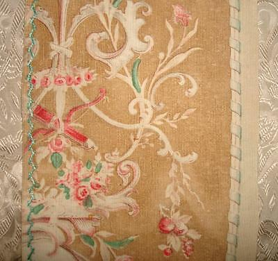 BEAUTIFUL FRAGMENT GENTLY FADED 19th CENTURY FRENCH ROCOCO TOILE, PROJECTS 3.