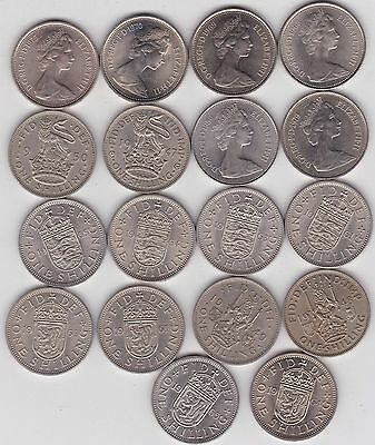 18 Shillings Various Dates From 1947 To 1980 In High Grade