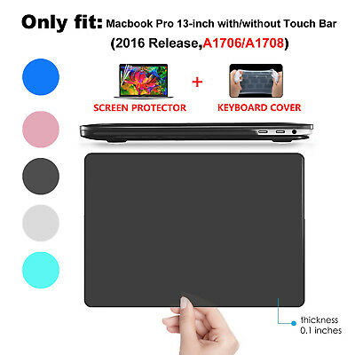 Hard Case Keyboard Cover For 2016 Macbook Pro 13 15 Touch Bar A1706 A1708 A1707