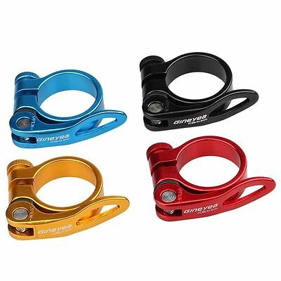 Bicycle Cycling Mountain Bike Quick Release Saddle Seat Post Clip Clamp 34.9mm