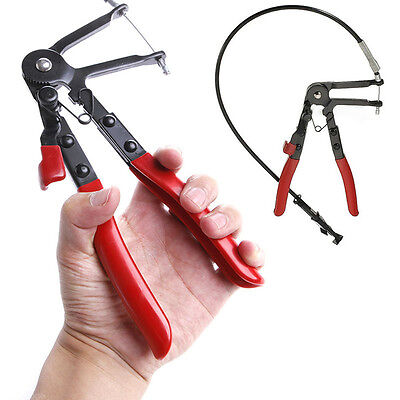 Flexible Wire Long Reach Hose Clamp Pliers For Fuel Oil Water Pipe Auto Tool Kit
