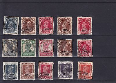 India Jind KGVI Used Collection
