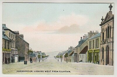 Ross & Cromarty postcard - Invergordon, Looking West from Fountain