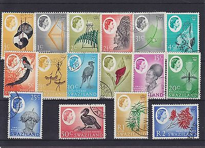 Swaziland QEII SG 90/105 set Used Collection